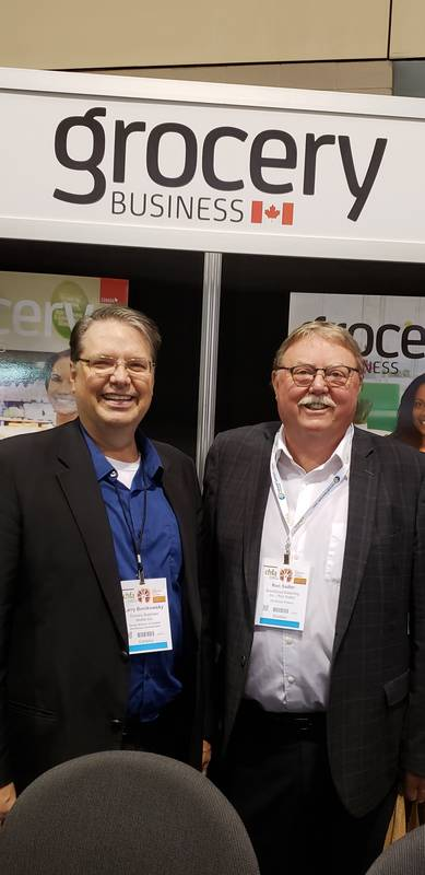 Larry Bonikowsky, Grocery Business Magazine (left) and Ron Sadler