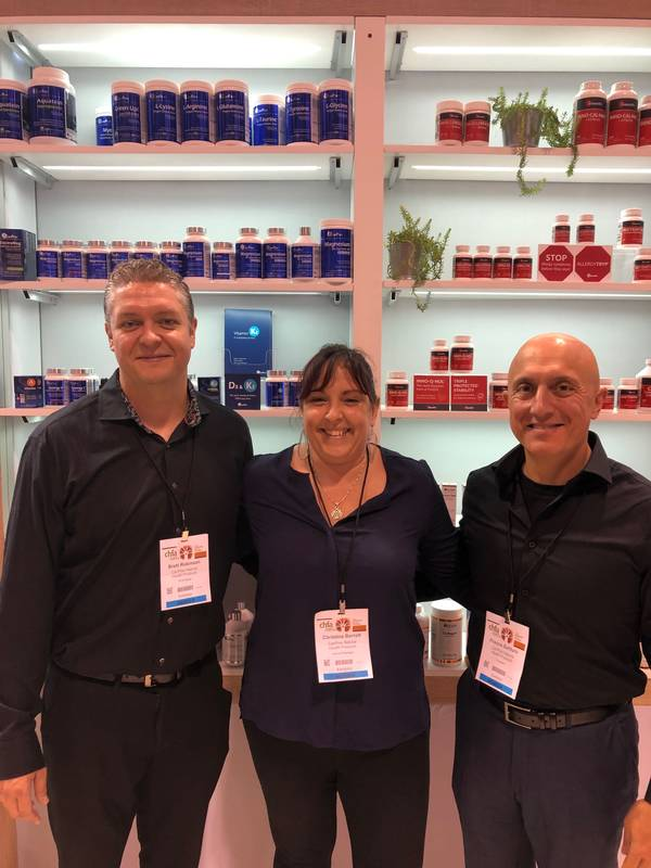 L to R: Brett Robinson, Christina Barrett and Franco Salituro, all with CanPrev Naturasl Health Products