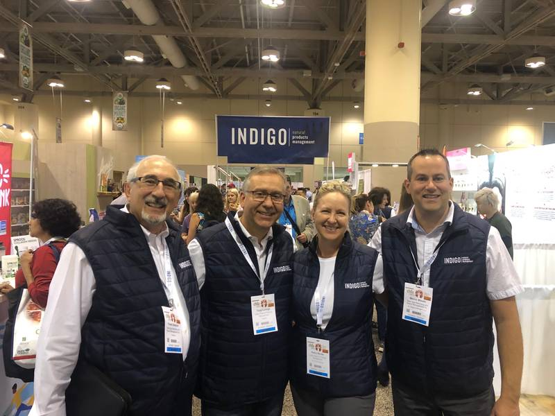 L to R: Frank Gallucci, New Age Marketing; Tony Luongo, Indigo; Kathy Banks, Indigo; Marco Blouin, New Age Marketing