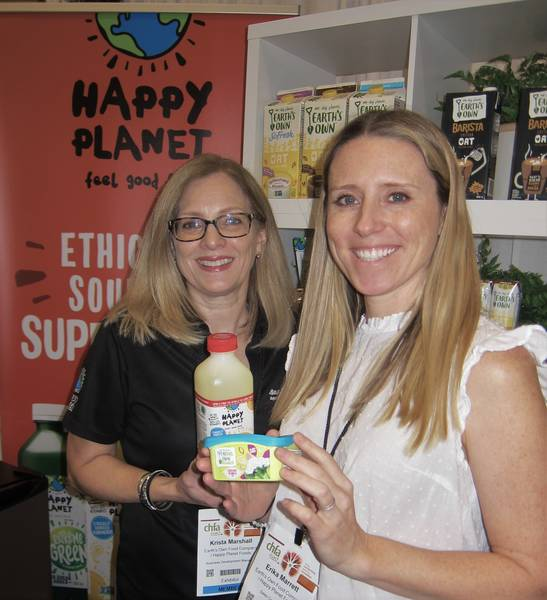 Krista Marshall (left) and Erika Marrett, Happy Planet Foods