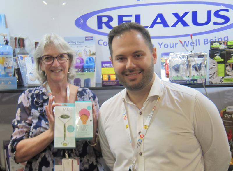 Brenda Cachero and Simon Eisler, Relaxus Products Ltd.