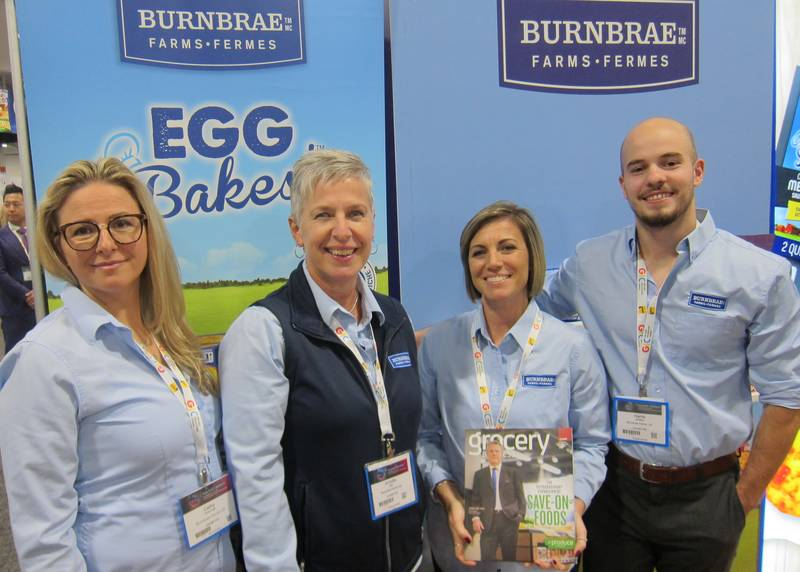 L to R: Cathy Dimovski, Annette Hak, Amy Dyer and Harris Whiting, Burnbrae Farms