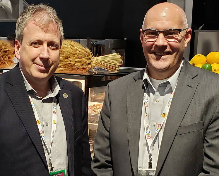 Francois Bouchard (left) and Michel Boucher from GS1