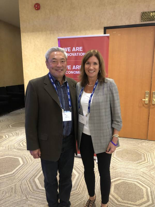 Frank Takamatsu and his wife, Carol Stewart (retired president CEO, Kellogg Canada)