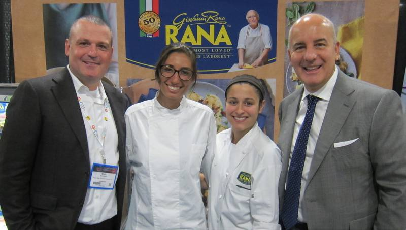 L to R: Mark McLaughlin, Paola Lodi, Jennifer Parato and Pat Pellicione, Rana Meal Solutions