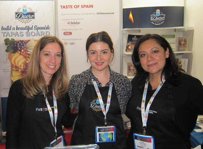 L to R: Mary-Grace Freda, Emma Pelliccione and Ingrid Rathgeb-Rodriguez, Taste of Spain pavilion