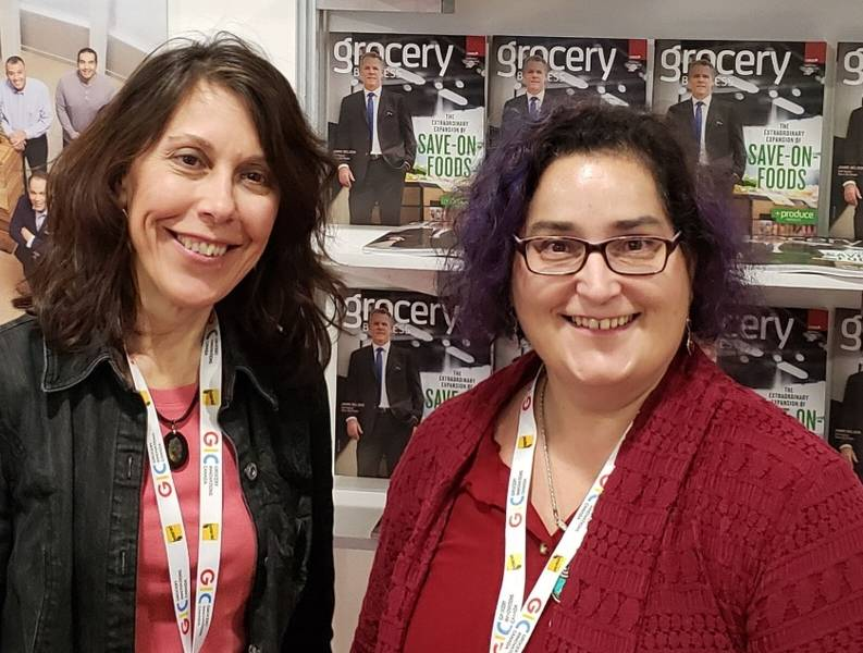Mary Scianna, Grocery Business Magazine (left) and Veronica Woods, Koelnmesse (Cologne International Trade Fairs)