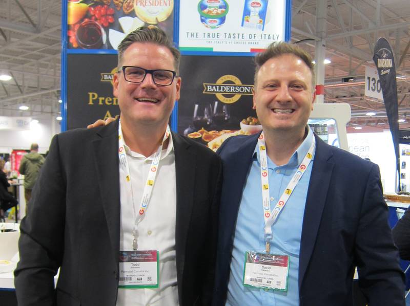 Todd Johnston (left) and David Distefano, Lactalis Canada