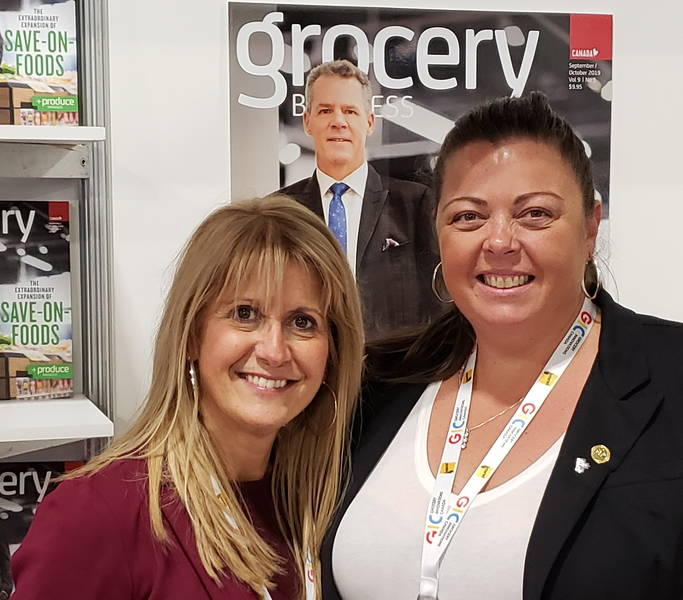 Vicki Bexis of Sun Valley Supermarket (left) and Christy McMullen of Summerhill Market