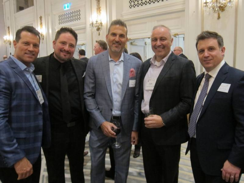 Brent Falvo, Clorox; Errol Cerit, FCPC; Mike Rose, Metro; Aleks Djurdjevic, Advantage Sales and Marketing; Mike Pilato, Jamieson Wellness.
