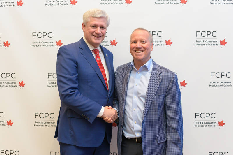 Former Primer Minister Stephen Harper with Chris Powell, Tree of Life
