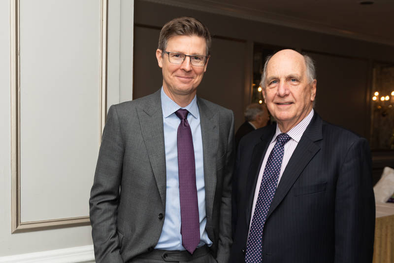 Galen Weston, left and Dave Williams, Loblaw (retired)