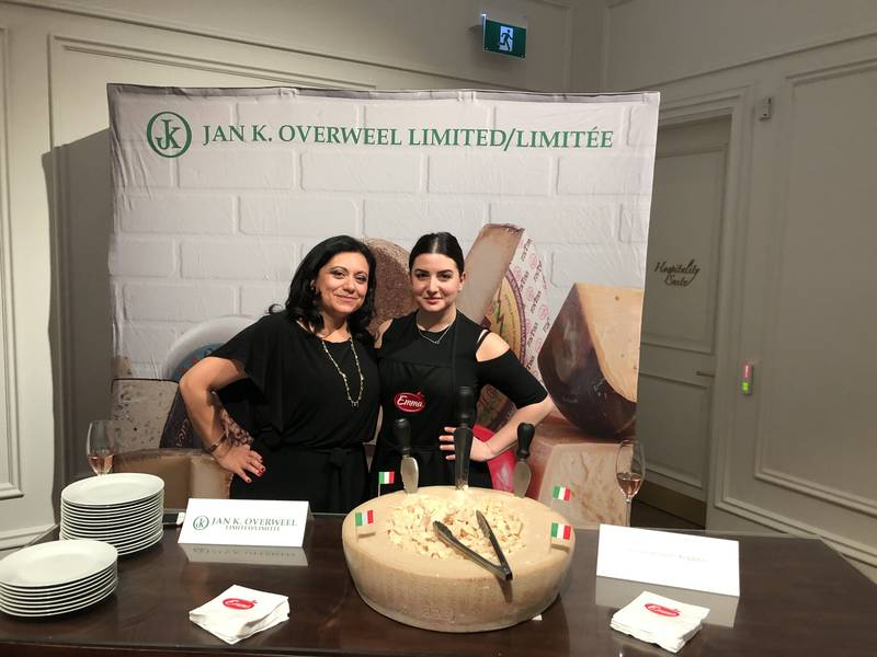 Jan. K. Overweel Limited booth with Ingrid Rathgeb-Rodriguez and Emma Pelliccione