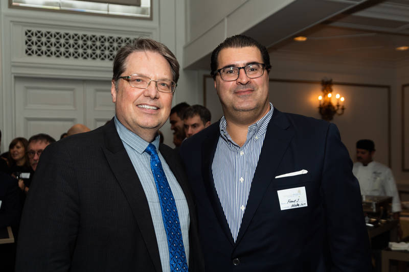 Larry Bonikowsky, Grocery Business Magazine (left) and Frank Jaja, Metro