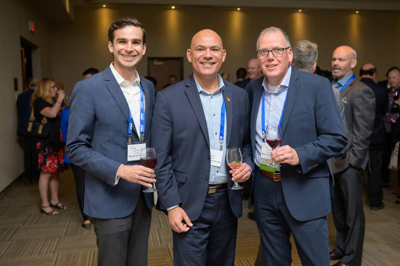 L to R: Michael Paolini and James Brown, MasterCard Canada; Trevor Squires, McCormick