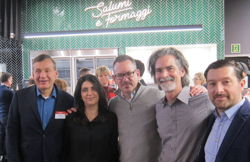 From left: Michael Forgione, Longos; Ferial Rahbari, Ampersand Design; Rob Koss, Longos; Glen Kerr, Ampersand Design; Tony Cammalleri, Longos