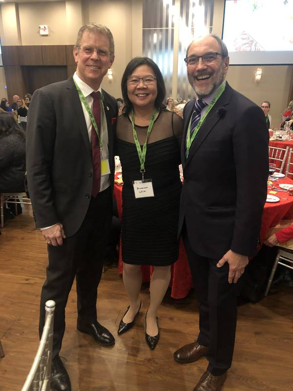 Brent Cator, Cardinal Meat Specialists; Brenda Seto, Consultant and Jim Slomka, Grocery Business