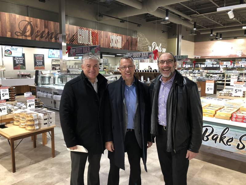 Farm Boy Co CEOs Jeff York Founder and Jean Louis Bellemare with Jim Slomka, Grocery Business