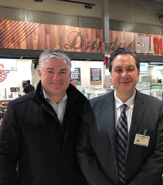 Farm Boy Co-CEO Jeff York and store manager Gino Caputo