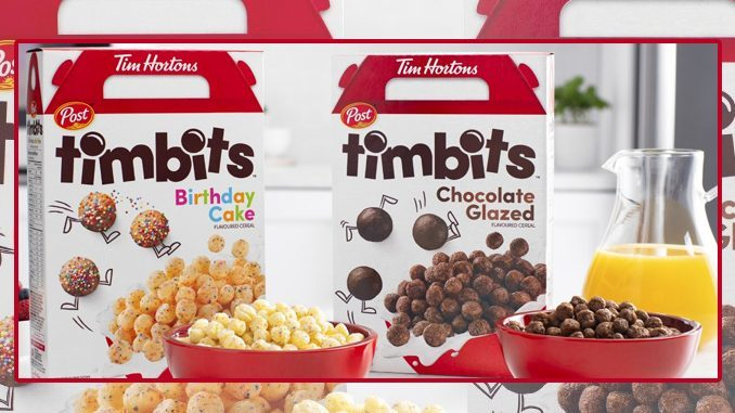 Tim Hortons debuts two new Timbits cereal flavours
