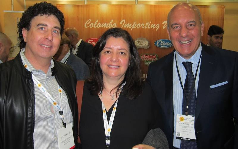 Gabriele and Luisa Torchetti of Lady York Foods with Pat Pelliccione, J.K. Overweel