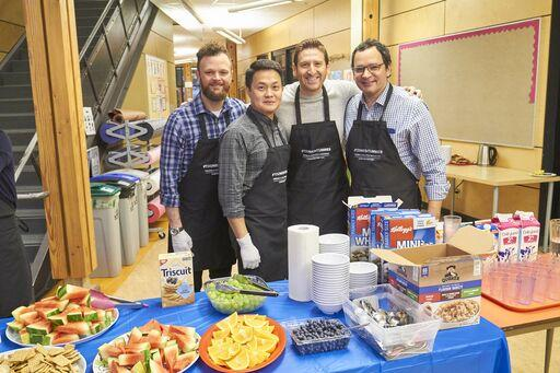 Davis Pow, Safeway/Sobeys Inc.; Joseph Salgado, Mondelez; Ben Neumer, Breakfast Club of Canada; Don Letendre, Jan. K. Overwheel Ltd.