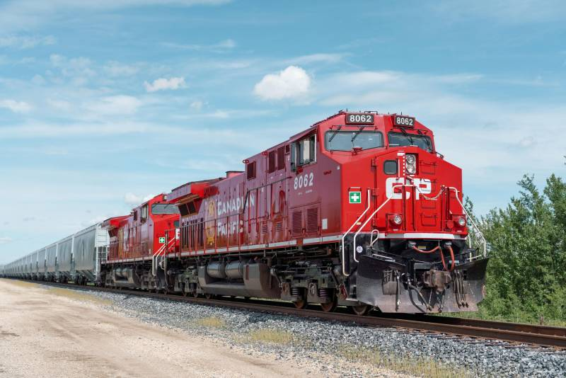 Canadian Pacific Railway grain train