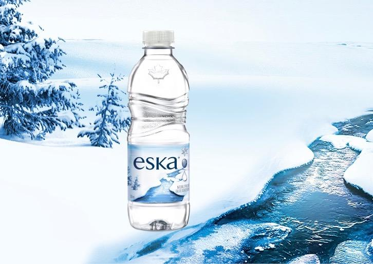 ESKA moves to 100% recycled water bottles