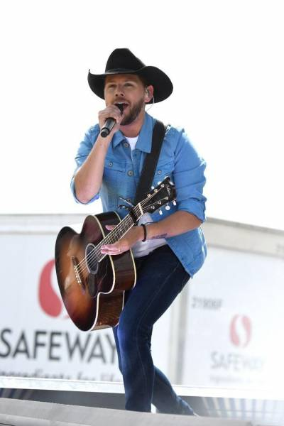Brett Kissel during the Safeway drive-in country music concert