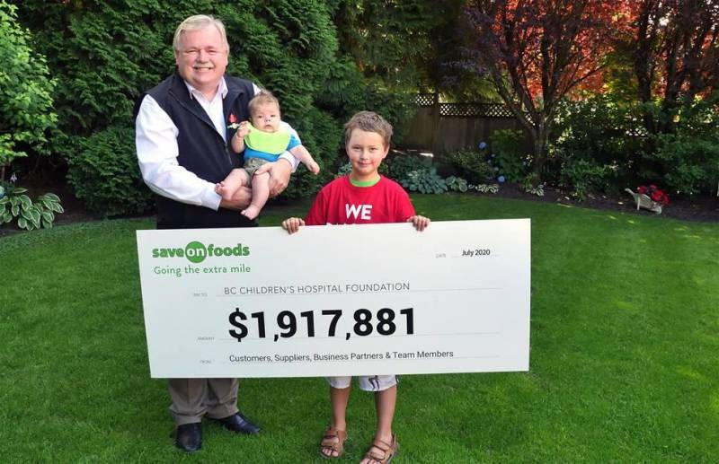 Save-On-Foods raises $1.9 million for BC Children's Hospital Foundation