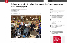Empire installing plexiglass screens at all grocery stores: Globe and Mail story