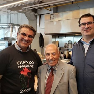 Antonio Morello, Aurora Importing & Distributing, Aurora founder Nunzio Tumino and Frank Jaja, Metro Inc.