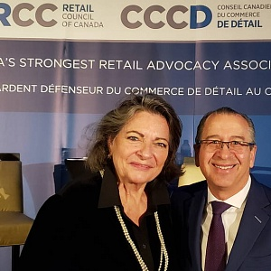 Domenic Pilla, McKesson and Diane Brisebois, Retail Council of Canada