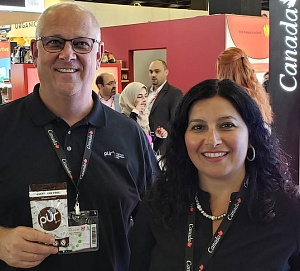 Dave Terry of The Pur Company with Melina Ouzounis of McCormick