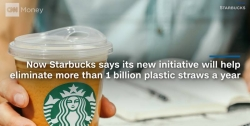 WATCH: Starbucks debuts its new strawless cup design