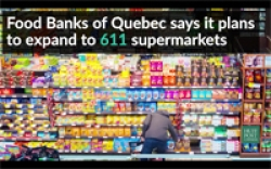 WATCH: Quebec grocers pair with local food banks to say, 'no waste, no hunger'