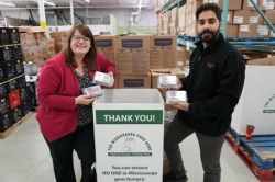 Rabba makes special Easter delivery to food bank