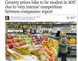 'Very intense' competition will keep 2017 food store inflation below 2%: Report