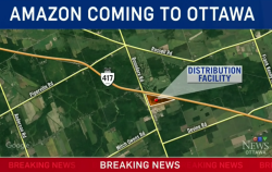 WATCH: Amazon reportedly building massive distribution centre in Ottawa